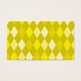 Yellow argyle pattern business card
