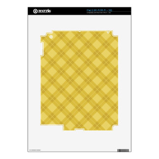 Yellow Argyle Pattern Decal For iPad 2