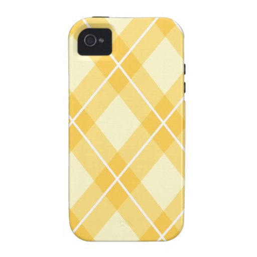 Yellow Argyle Pattern iPhone 4/4S Cover