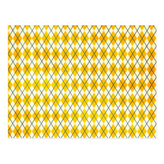 Yellow Argyle Postcard