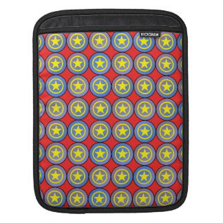Yellow army stars sleeve for iPads