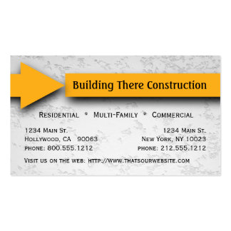 Yellow Arrow Construction Business Card