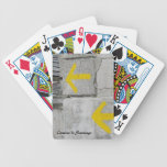 Yellow Arrows Playing Cards