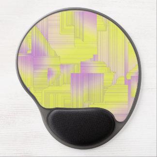 Yellow Art Deco Gel Mouse Pad