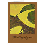 Yellow Art in Bold Abstract Design Greeting Card