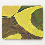 Yellow Art in Bold Abstract Design Mouse Pad