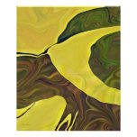 Yellow Art in Bold Abstract Design Poster