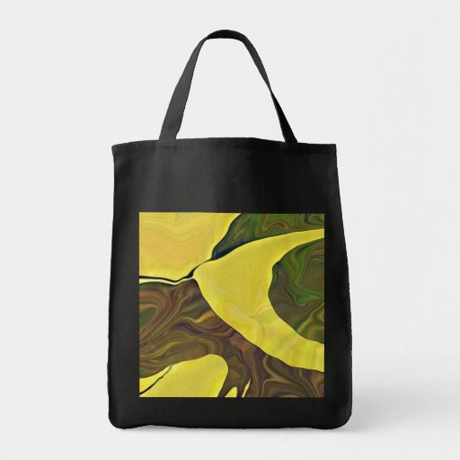 Yellow Art in Bold Abstract Design Tote Bag