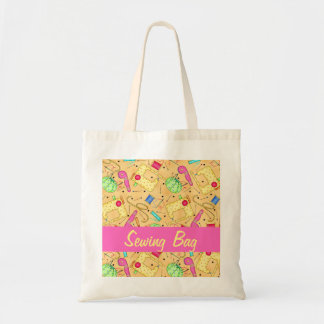 Yellow Art Sewing Bag Custom Personalized