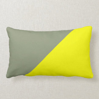 Yellow & Artichoke Solid Color Background Throw Pillow