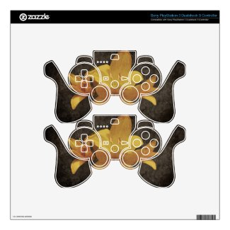 Yellow Asiatic lily on old grunged canvas backgrou Decal For PS3 Controller