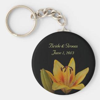 Yellow Asiatic Lily Wedding Keychain