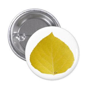 Yellow Aspen Leaf #5 Button