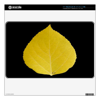 Yellow Aspen Leaf #5 Decal For The MacBook Air