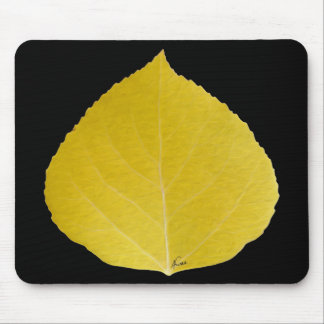 Yellow Aspen Leaf #5 Mouse Pad