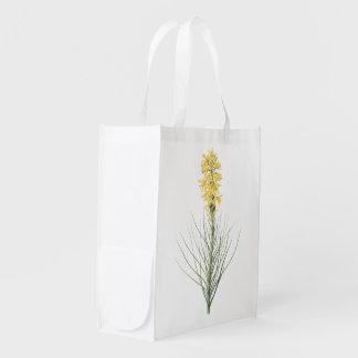 yellow asphodel(Asphodelus luteus) by Redouté Reusable Grocery Bags
