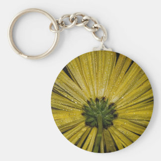 Yellow Aster Flower, Bottom View Keychains