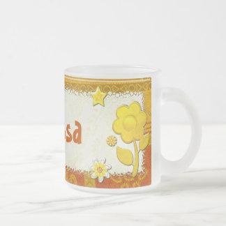 Yellow at Play Jeweled PERSONALIZED Mugs