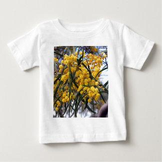 Yellow Australian wattle tree blossoms Baby T-Shirt