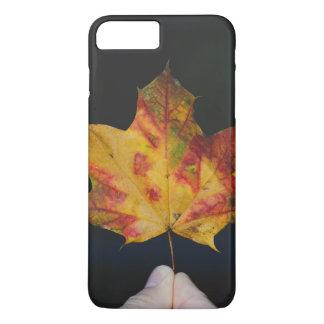 Yellow autumn leaf macro iPhone 7 plus case