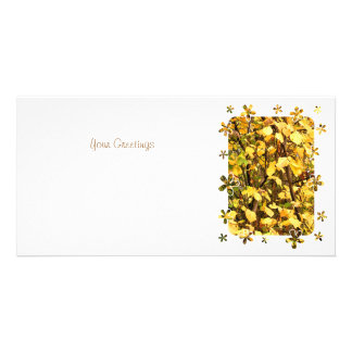 YELLOW AUTUMN LEAVES CARD