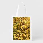 YELLOW AUTUMN LEAVES GROCERY BAG