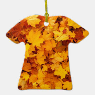 Yellow Autumn Leaves Ornaments