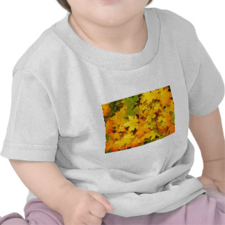 Yellow Autumn Leaves T Shirt