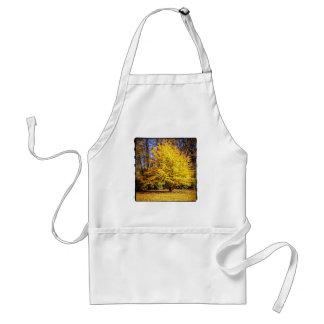Yellow Autumn Tree Apron