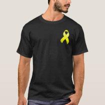 Yellow Awareness Pocket Ribbon T-Shirt