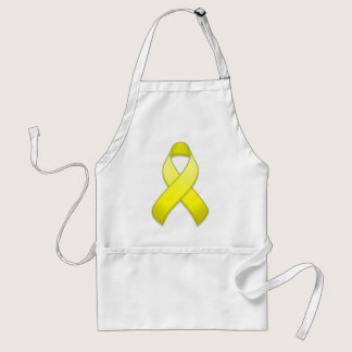 Yellow Awareness Ribbon Apron
