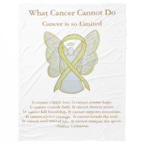 Yellow Awareness Ribbon Bone Cancer Angel Blanket