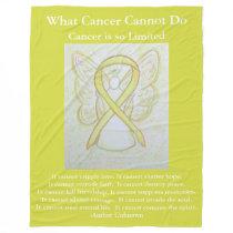 Yellow Awareness Ribbon Bone Cancer Angel Blankets