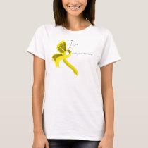 Yellow Awareness Ribbon Butterfly T-Shirt