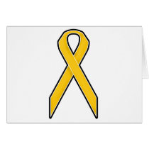 Yellow Awareness Ribbon Card