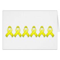 Yellow Awareness Ribbon Card