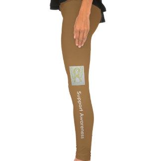 Yellow Awareness Ribbon Clothing Angel Leggings