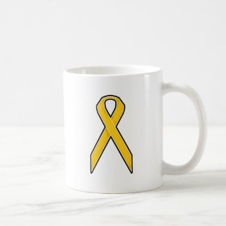 Yellow Awareness Ribbon Coffee Mug