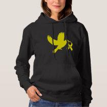 Yellow Awareness Ribbon Dove of Hope Hoodie