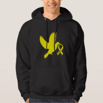 Yellow Awareness Ribbon Dove of Hope Hoodie