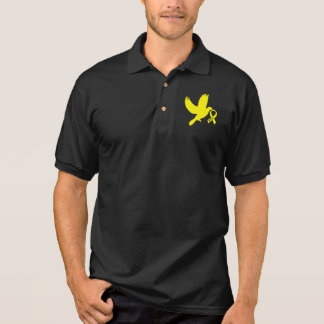 Yellow Awareness Ribbon Dove of Hope Polo Shirt