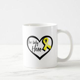 Yellow Awareness Ribbon For My Hero Coffee Mug