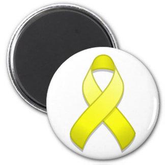 Yellow Awareness Ribbon Magnet