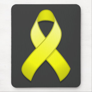 Yellow Awareness Ribbon Mousepad