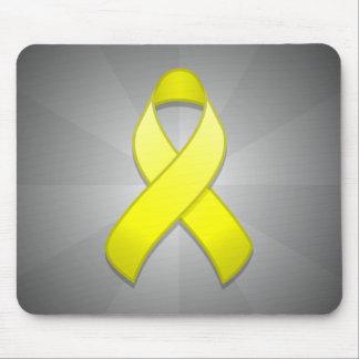 Yellow Awareness Ribbon Mousepad