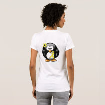 Yellow Awareness Ribbon Penguin T-Shirt
