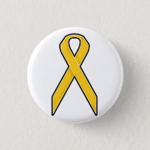 Yellow Awareness Ribbon Pinback Button