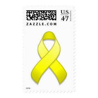 Yellow Awareness Ribbon Postage