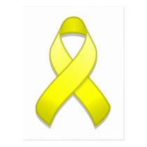 Yellow Awareness Ribbon Postcard