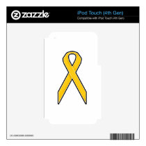 Yellow Awareness Ribbon Skin For iPod Touch 4G